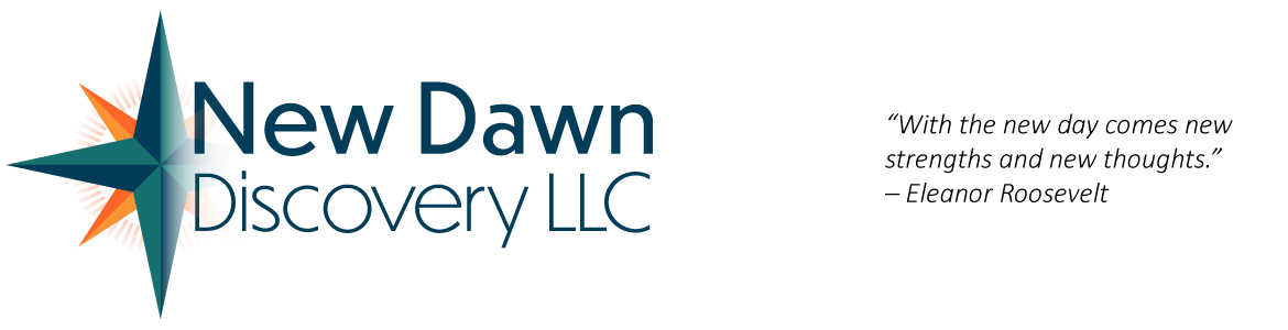 New Dawn Discovery logo with quote